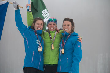 women freestyle podium