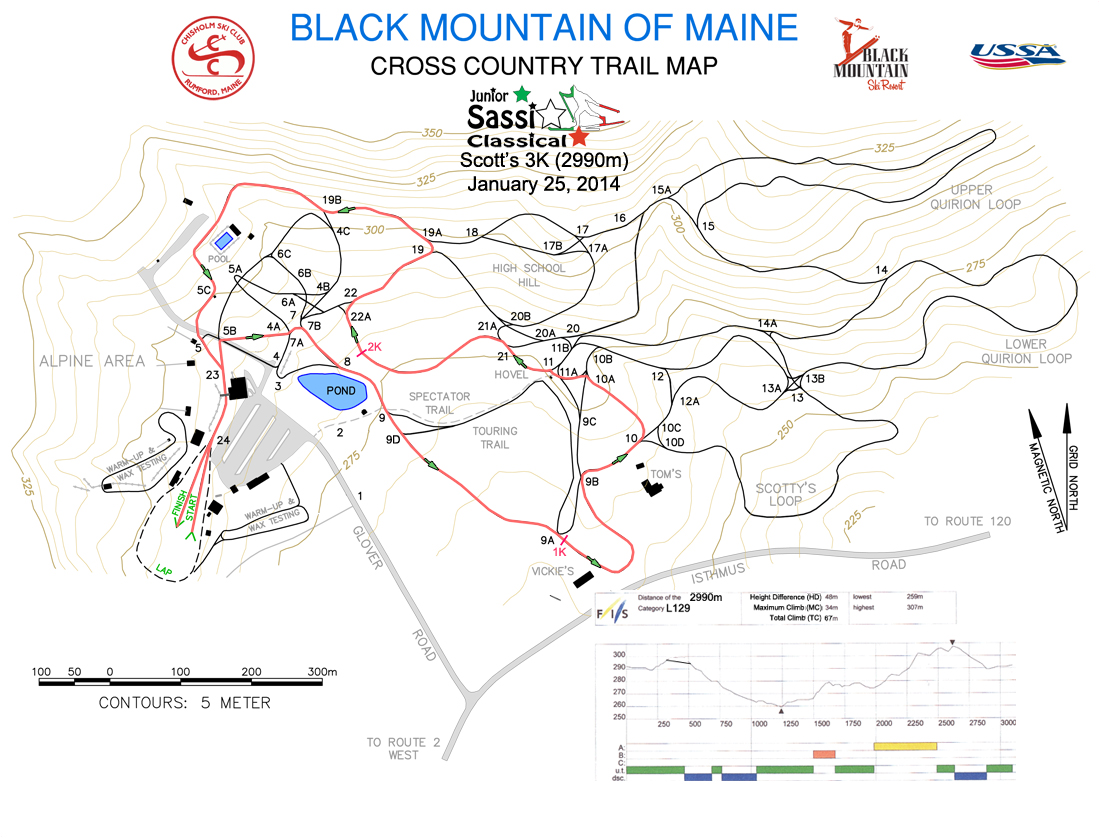 2014 Junior Sassi Course Map